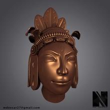 hindu god statue head art hindu god krishna mythology india ramayan statue idol head 3d print gold indian hinduisim prayer sculpture art sculptures