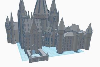 hogwarts edificio arquitectura castillo harrypotter histórico impresión 3d modelo pasatiempo bricolaje diy pasatiempo bricolaje diy