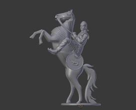 cavaleiro escultura homem homem cavaleiro cavalo estátua antigo arte brinquedo cavalo esculturas