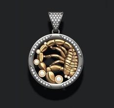 horóscopo escorpião pingente joias 3d joias ouro horóscopo jóia jóias joalheria colar colares pingente imprimível Escorpião escorpião prata escorpião zbrush zodíaco Zodiak astrológico placa pingentes