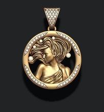 horóscopo Virgem pingente joias ouro horóscopo jóia jóias joalheria colar pingente imprimível rinoceronte esculpir virgem Virgem zodíaco Zodiak Escorpião escorpião prata astrológico placa gema pingentes