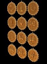 horóscopo horóscopo placa zodíaco astrologia Câncer Virgem astro Escorpião símbolo Áries Aquário Capricórnio Gêmeos Leo Libra Peixes joalheria colares
