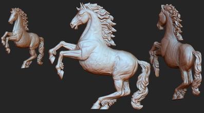 at basrelief model 3d baskı tırtıl at bas Rahatlama gerçekçi gerçekçilik kolye takı memeli hatıra ata binmek heykel zbrush Gerçeklik heykeli hayvan oyuncak at heykel kovboy kolye
