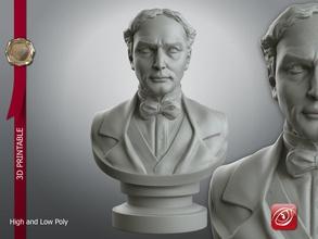 houdini busto 3d stampabili art houdini modello il busto la scultura testa scolpire art sculture