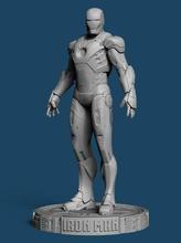 iron man mk7 standing games-toys iron man figure man sculpture statue thanos endgame avengers captain america tonystark stark marvel art comic games toys games toys other