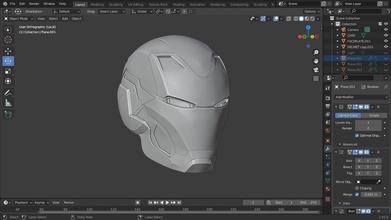 ironman mark 80 helmet 3d printable model interior details ironman cosplay helmet armor mk80 mark 80 marvel 3dprint  iron man avengers gadgets  hobby diy hobby diy robotics