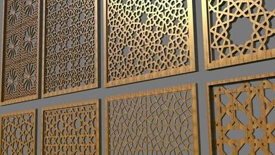 islamisch Panelpack 2 Muster Design Dekoration Kunst Architektur Statue islamisch Arabisch mathematisch mathematisch Kunst