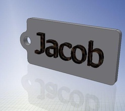 jacob name tag key chain fob zipper tag 2x1x02in 50x25x5mm fashion chain fashion fob key keychain keyfob jacob name other tag zip zippertag ziptag