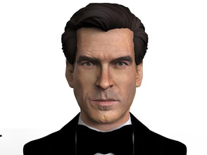 james bond bust statue jamesbond 007 statue buststatue figure custom3d 3dmodeling printable art sculptures