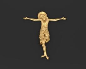 Jésus 3d impression modèle Christ Jésus crucifix religion catholicisme christianisme crucifixion Dieu traverser religieux catholique Christian Bible église miniatures figurines art sculptures bijoux