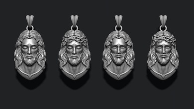jesus pendants pack jewelry printable necklace christ religiou object jesu head face jewish cross christianity god cathedral holy bible nazareth character thorns silver pendants