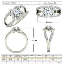 gioielli cad 3d, dei file stl - vjr105 gioielli gioielli 3d cad modello modellazione la stampa stampate i file il design diamante disegni di fidanzamento badari gemma brillante di boemia glamour oro di cristallo anello di diamanti anelli