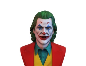 joker 2019 joaquin phoenix busto joker joaquin phoenix film la scultura figura carattere attore somiglianza clown guason 2019 dc fumetti il busto art sculture batman gotham