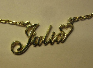 julia name pendant jewelry name julia necklace heart love jewelry necklaces gift present birthday name day