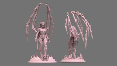 kerrigan art kerrigan star craft starcraft zerg queen blade art print sarah woman sculptures