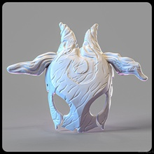 kindred mask cosplay 3d print model stl 3d printing stl league  legends lol mask kindred helmet toys wearable game accessories wolf printable games games toys