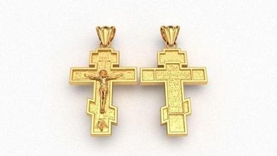 krest cross 3d impression modèle ortodox traverser crisma christianisme religion Foi prière Christ église cnc photo bijoux pendentifs modèles