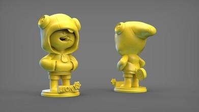 León bs Arte 3d impresión pelearse estrella estrellas León leyenda esculturas