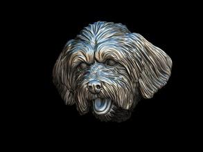 lhasa apso Hund Kopf Dackel Hund Statue Figur Rasse Tier Haustier Skulptur Miniaturen Figuren Terrier Gold Silber 3dprintble Schmuck Büste Kopf Hündchen Hündchen Anhänger
