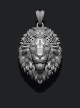 lion pendant closed mouth jewelry jewellery pendant gold silver jewel lion nature zbrush mesh necklace tiger jewelry enamel angry roaring lioness africa wild animal closed pendants