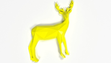 low poly deer abstract broche broche 3d printing fashion low poly lowpoly 3dp print deer elk animal broche thing stl mammal clothing character animals nature jevelry accesorie fashion other