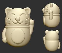 şanslı kedi şanslı kedi karikatür dekorasyon heykel heykel süs Şirin oryantal Sanat heykeller
