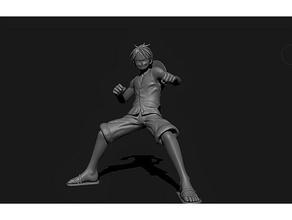 luffy 3d impression 3d impression 3D luffy zoro sanji nami art scans répliques scans répliques