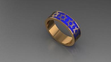 homem anel esmalte símbolo david Estrela platina joalheria luxo acessório prata diamante anel esterlina moda ouro argolas