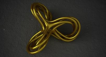 math object 0075 art knot spiral knot shape printable print 3d print 3d printing trefoil abstract mathematical mathart math art geometric shape geometric shape jewelry art mathematical art