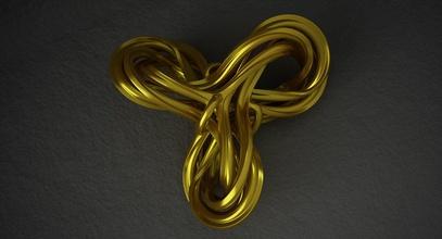 math object 0086 art knot knot shape 3d knot triple knot geometric knot geometric shape geometrical mathematical math model mathart math art abstract shape abstract object printable print 3d print art mathematical art