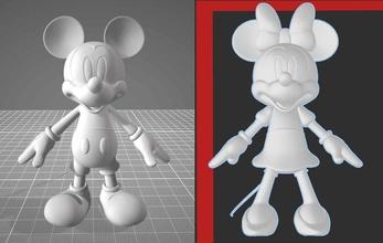 Mickey fare Minnie fare 2 paketlemek res 3d Yazdır Dosyalar Disney Mickey fare Minnie mickeymouse minniemouse karikatür komik pop büyü sihirbaz hayret oyuncak Yazdır