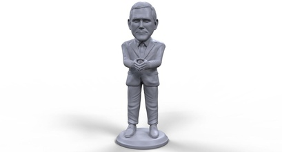 mike pence stylized high quality 3d printable miniature art man art figure sculpture statue people figurine character mike pence trump politician political leader vice president president usa american elections board game candidate sculptures