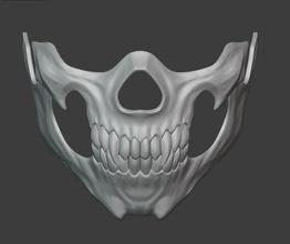 Mileena cranio viso maschera mortale kombat 11 Mileena cosplay maschera combattimento mortale respiratore airsoft demone ninja shinobi anime assassino spaventoso oggetti scena kitana giada skarlet Skullface osso sith