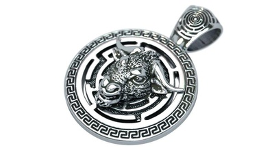 minotaur maze pendant jewelry minotaur maze bull pendant character silver jewelry pendants