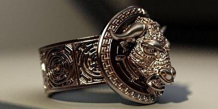 minotaur maze jewelry minotaur maze bull ring silver jewelry character bike biker rings