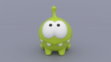om nom Schnitt Seil Serie 3d drucken Modell Spiel Cuttherope omnom Süßigkeiten Miniatur Spielzeug Modell Skulptur niedlich Monster Spiele Spielzeuge Spiele Spielzeuge Zahl