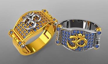 om Ring 3d drucken Modell Ring om Schmuck Schmuck Gold Silber Juwel Hochzeit Engagement Schmuck druckbar Juwel Sterling Mode Ring Sterling Diamant Diamant Ring Mode Schönheit