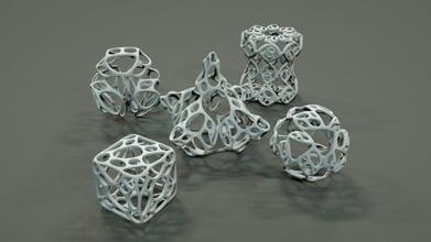 organic geometric figures decoration geometry scifi science cube cone sphere geometric shape math futurism abstract serie art mathematical organic design sculpture mathematical art
