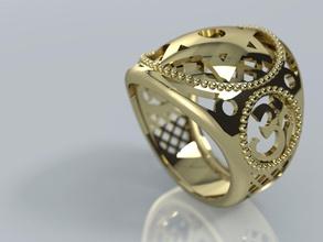 ornamental hindu star david judaica signet ring jewelry printable jewelry ring judaica hindu ornamental casting 3d apparel indian signet male mesh jewish jewels david gold lavish curved rings