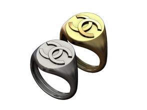 oval chanel logo réplica sello anillo joyería joya imprimible chanel logo Moda lujo accesorios símbolo oro plata joyería joaillier libra esterlina anillo sello signetring menring hombres anillos ornamento
