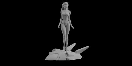 overwatch dva pinup statue sculpt sexy figure 3d printing woman sexy art figure statue dva overwatch 3d print 3d printing 3d printed va video game game model sculptures
