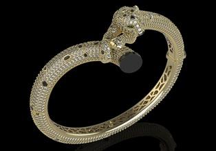 pantera pulseira joalheria pantera cartier pulseira joalheria jóias 3djewelrymodel 3dprint ouro prata zbrush zbrushjewelr imprimível luxo Puma pulseiras