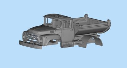 parti taxi camion zil 130 stl stampabile corpi macchina russo camion zil130 zil urss sovietico veicolo industriale macchina rc rccar wpl militare camion stampabile stl passatempo