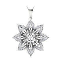 pendente 1281 gioielleria sterlina nozze Fidanzamento gioielleria gioiello stampabile solitario pendente oro platino collana brillante argento ciondoli pendente collana