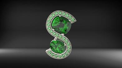 pendant 0078 fashion model apparel diamond ring engagement brilliant  gem printable earring stl gold platinum silver decorative jewelry luxury wedding art pendants