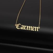 pendant carmen jewelry printable pendant necklace  gold letters platinum fashion chain cnc 3dprint carmen wedding gift sterling diamond silver necklaces