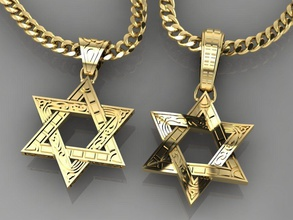 pingente Estrela david joalheria jóias jóias ouro prata imprimível esterlina pingente Estrela david Israel estrela Davi pingentes luxo