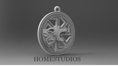 ciondolo lupo 2 gioielli lupo bestia creatura lupo mannaro ciondolo oro argento fantasia gioielli stampabile runico il simbolo moda amuleto joss ciondoli