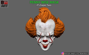 penny wise mask - chapter two art penny wise mask helmet penny wise mask penny wise helmet penny wise head pennywise  chapter two chapter two mask cisplay cosplay accessories toy pennywisetoy pennywisecosplay halloween art sculptures