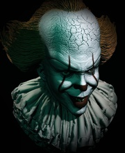 pennywise dancing clown art sculpture art face fantasy pennywise  dancing clown  monster walter padick dark tower halloween stephen king sculptures